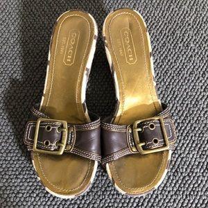 Coach flatform sandal
